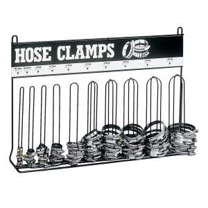 Hose clamp rack